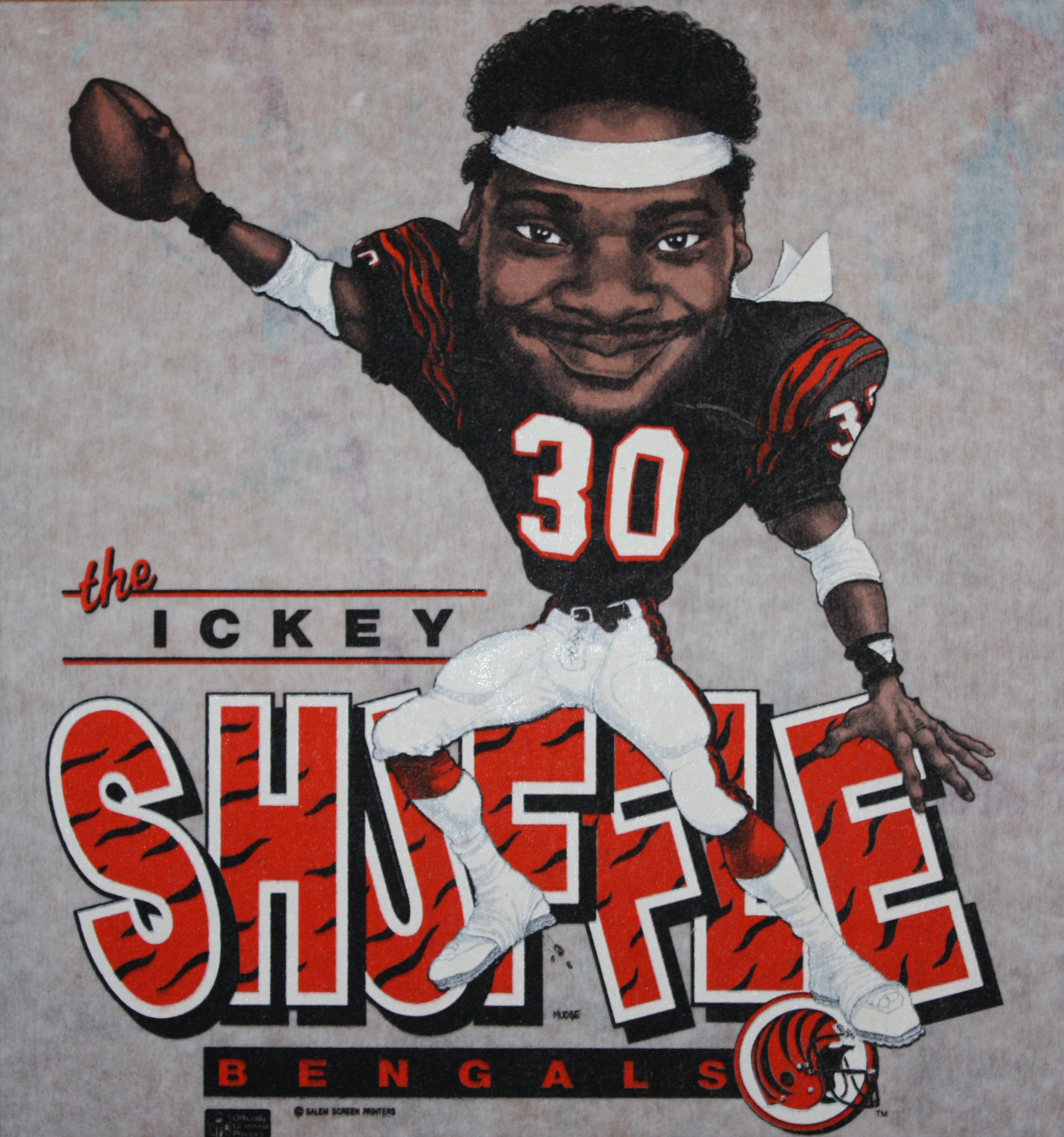 Ickey Woods Caricature Tee.